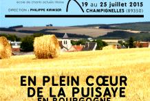 Stage été 2015 Les maisons blanches à Champignelles près d'Auxerre.